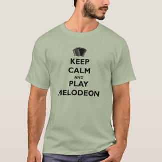 Camiseta Mantenha o T de Melodeon da calma e do jogo