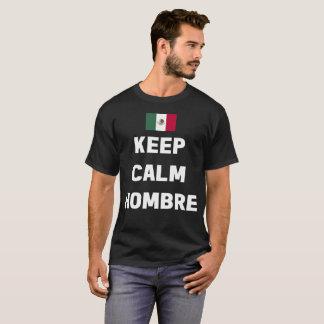 Camiseta Mantenha o t-shirt calmo da bandeira mexicana de