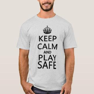 Camiseta Mantenha o t-shirt seguro do Snooker da calma e do