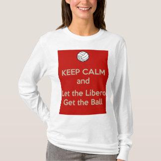 Camiseta Mantenha o voleibol calmo