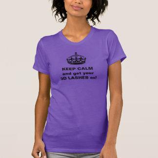 Camiseta Mantenha os chicotes 3D calmos