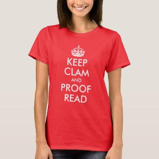 Camiseta Mantenha os moluscos e a prova lidos