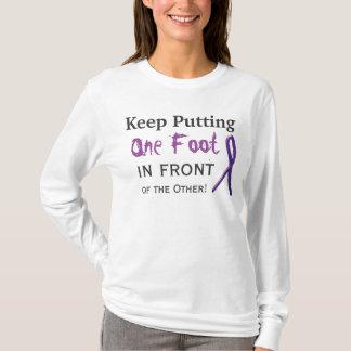 Camiseta Mantenha pôr um pé na frente do outro