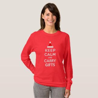 Camiseta Mantenha presentes calmos e do carregar
