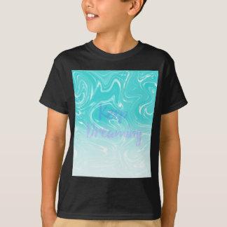 Camiseta Mantenha sonhar a tipografia no design de mármore