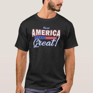 Camiseta Mantenha t-shirt 2020 do slogan do trunfo de