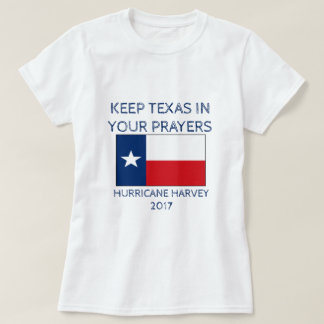 Camiseta Mantenha Texas em suas orações - furacão Harvey