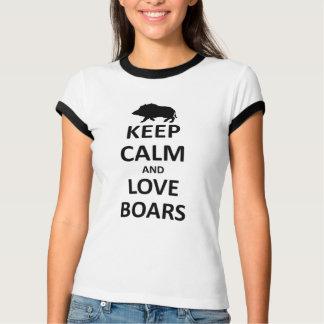 Camiseta Mantenha varrões calmos do amor