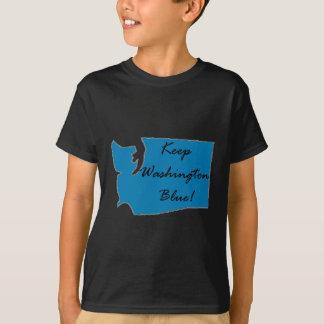 Camiseta Mantenha Washington azul! Orgulho Democrática!