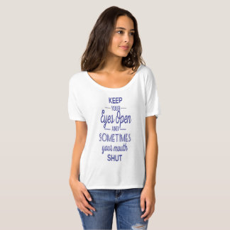 Camiseta manter-seu-olho-aberto