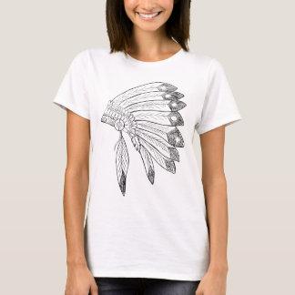Camiseta Mantilha - ilustração do nativo americano