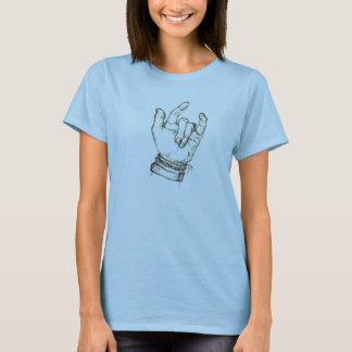 Camiseta mão americana do linguagem gestual; Eu te amo