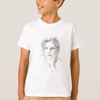 Camiseta Mão clássica retrato tirado