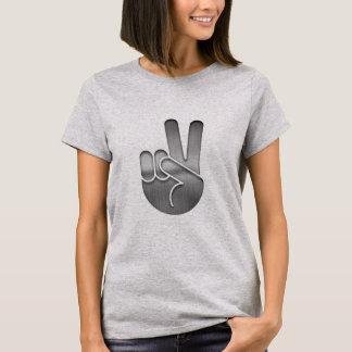 Camiseta Mão da paz do cromo