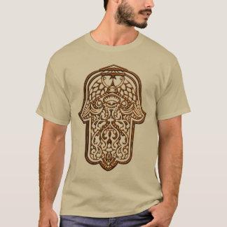 Camiseta Mão do Henna de Hamsa (alaranjado)