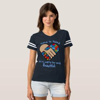 Camiseta Mão e mão