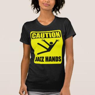 Camiseta Mãos do jazz do cuidado