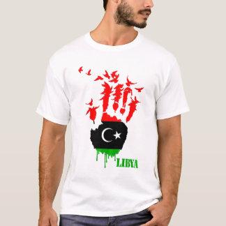 Camiseta Mãos do vôo de Líbia