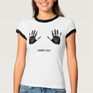 Camiseta Mãos fora!