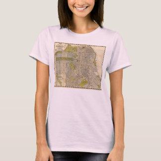 Camiseta Mapa 1932 de Candrain de San Francisco Califórnia
