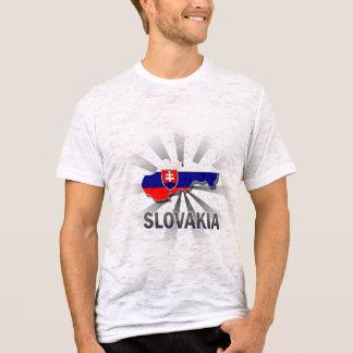 Camiseta Mapa 2,0 da bandeira de Slovakia