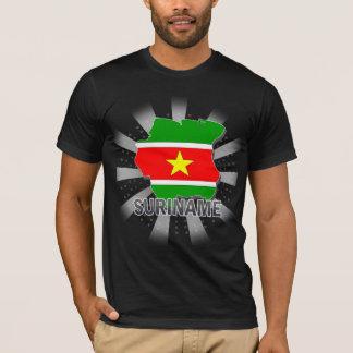 Camiseta Mapa 2,0 da bandeira de Suriname