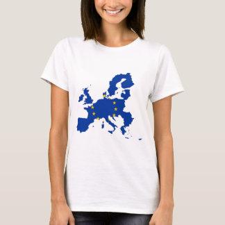 Camiseta Mapa da bandeira da União Europeia