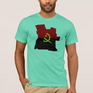 Camiseta Mapa da bandeira de Angola