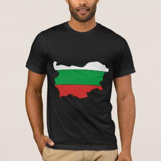 Camiseta Mapa da bandeira de Bulgária sem redução