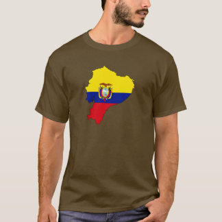 Camiseta Mapa da bandeira de Equador