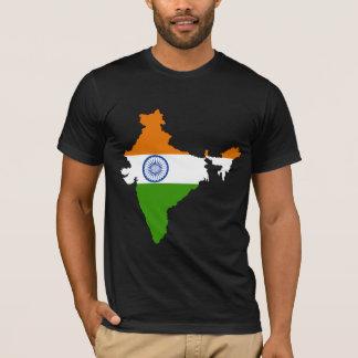 Camiseta Mapa da bandeira de India sem redução