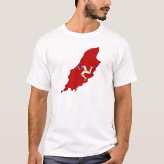 Camiseta Mapa da bandeira de Isleofman