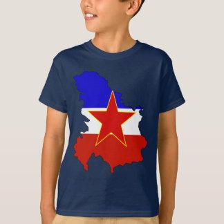 Camiseta Mapa da bandeira de Jugoslávia
