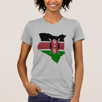 Camiseta Mapa da bandeira de Kenya