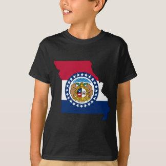 Camiseta Mapa da bandeira de Missouri