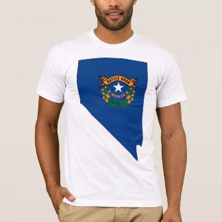 Camiseta Mapa da bandeira de Nevada