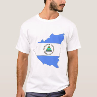 Camiseta Mapa da bandeira de Nicarágua