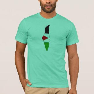 Camiseta Mapa da bandeira de Palestina
