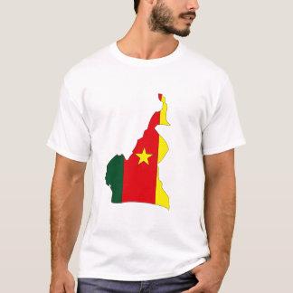 Camiseta Mapa da bandeira de República dos Camarões