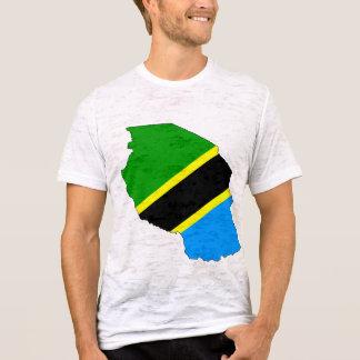 Camiseta Mapa da bandeira de Tanzânia