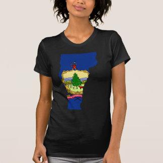 Camiseta Mapa da bandeira de Vermont