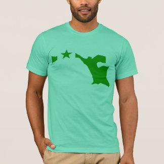 Camiseta Mapa da bandeira do esperanto