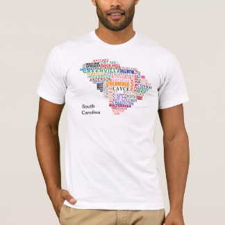 Camiseta Mapa da cidade de South Carolina