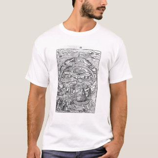 Camiseta Mapa da ilha de Utopia, frontispiece do livro