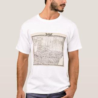Camiseta Mapa da parte austero e ocidental de condados de