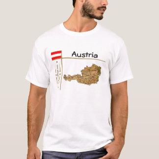 Camiseta Mapa de Áustria + Bandeira + T-shirt do título