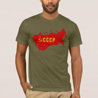 Camiseta Mapa de CCCP União Soviética
