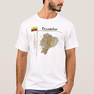 Camiseta Mapa de Equador + Bandeira + T-shirt do título