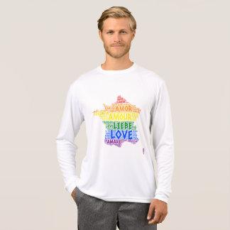 Camiseta Mapa de France do arco-íris de LGBT ilustrado com