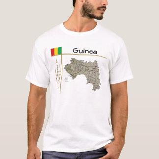 Camiseta Mapa de Guiné-Conakry + Bandeira + T-shirt do